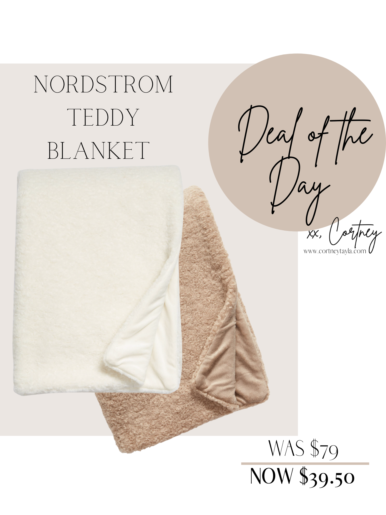 Deal Of The Day // Teddy Blanket From Nordstrom